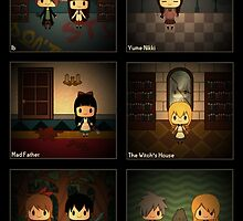 Horror RPG Chibis w/ Background by kiiroikat