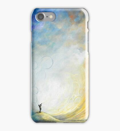 Abstract Sky Sunset Moon Musical Painting Trumpet iPhone Case/Skin