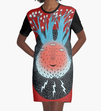 Cosmic Epiphany Heart Graphic T-Shirt Dress