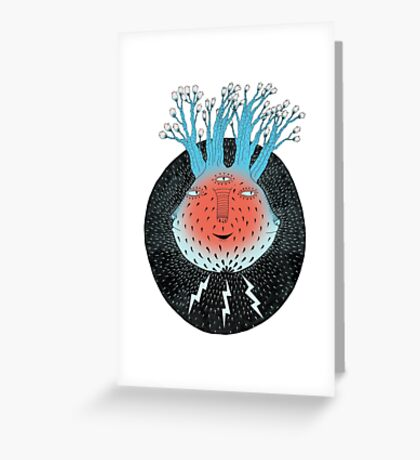 Cosmic Epiphany Heart Greeting Card