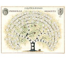Original Genetti Family Tree Photographic Print