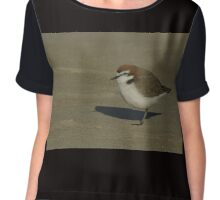 Red Cap Plover Chiffon Top
