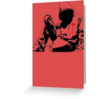 new Banksy art on t-shirt Greeting Card