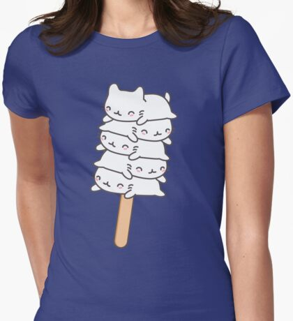 Cute and Kawaii Cat Art Womens Fitted T-Shirt