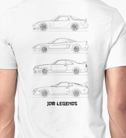 JDM Legends (Black on White) Unisex T-Shirt