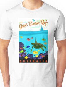 """AUSTRALIA"" Great Barrier Coral Reef Print Unisex T-Shirt"