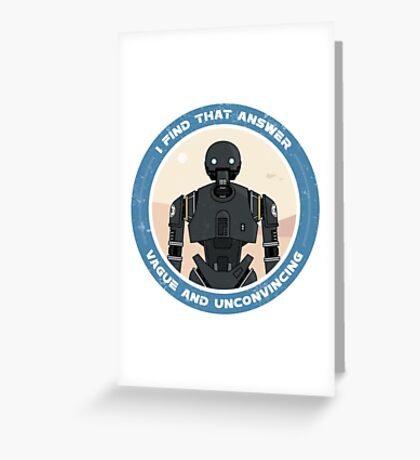 K-2SO Sticker (Rogue One: A Star Wars Story) Greeting Card