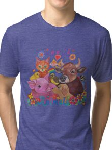 Love all Animals  Tri-blend T-Shirt