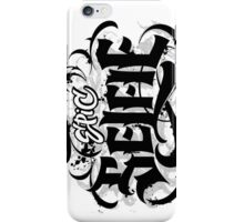Bold Grunge Tattoo Goth Hand Lettering Calligraphy - Epic Selfie - vertical iPhone Case/Skin