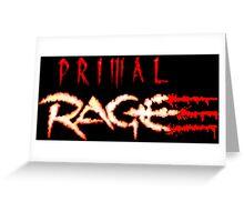 Primal Rage (Genesis Title Screen) Greeting Card