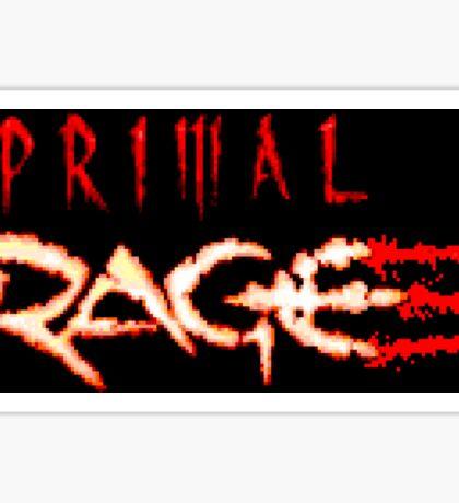 Primal Rage (Genesis Title Screen) Sticker