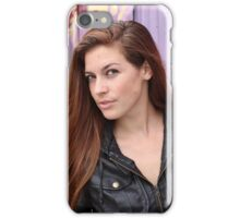 Portrait of a young woman iPhone Case/Skin