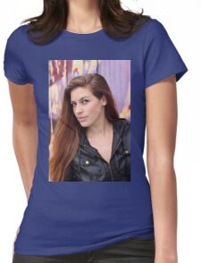 Portrait of a young woman Womens Fitted T-Shirt