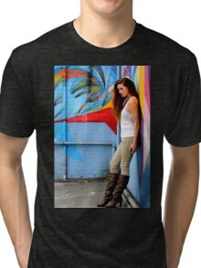 Young Woman Tri-blend T-Shirt