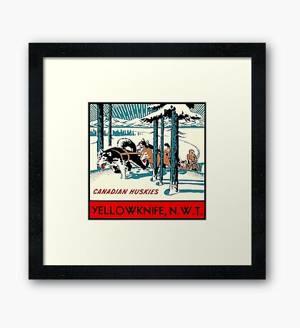 Yellowknife Northwest Territories NWT Canada Vintage Travel Decal Framed Print