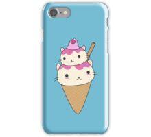 Cute and kawaii cat ice-cream cone iPhone Case/Skin