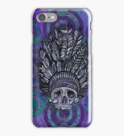 Indian Scull purple iPhone Case/Skin