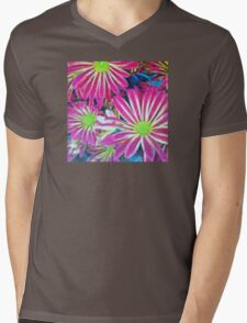Pixelated and Pink Mens V-Neck T-Shirt