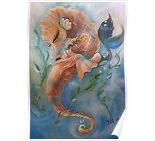 The Sleepy Seahorse Poster