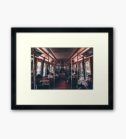 Transport PixelArt Framed Print