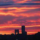 Autumn sky over New York City  by Alberto  DeJesus