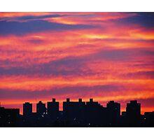Autumn sunset in New York City Photographic Print