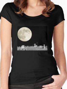 Moonlit Graveyard Women's Fitted Scoop T-Shirt