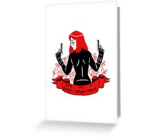 Black Widow Movie Greeting Card