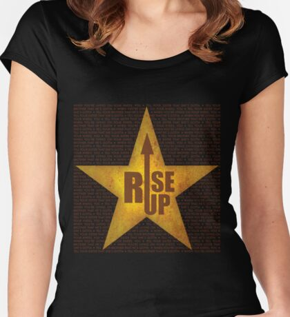 Rise up! Rise up! Women's Fitted Scoop T-Shirt