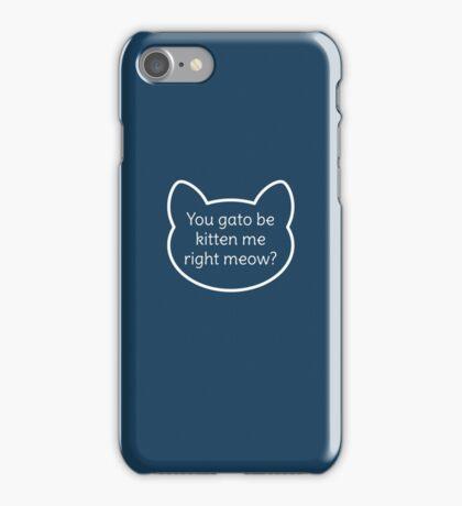 Cute Cat Pun  iPhone Case/Skin