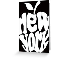 Big Apple New York, white Greeting Card