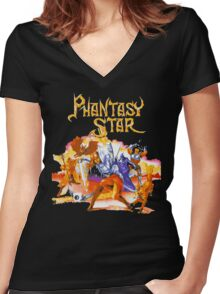 Phantasy Star Women's Fitted V-Neck T-Shirt