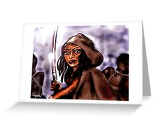 """Michonne [and """"friends""""] Greeting Card"""