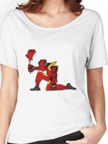 Robot-Rose Women's Relaxed Fit T-Shirt