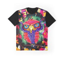 Angry Owl Art Graphic T-Shirt