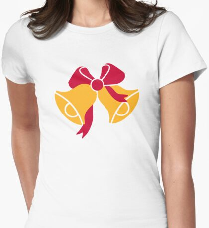 Bells with bow Womens Fitted T-Shirt