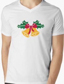 Christmas bells holly Mens V-Neck T-Shirt