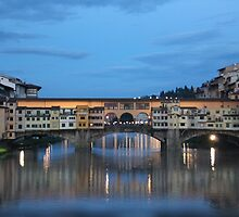 Ponte Vecchio at Dusk by hummingbirds