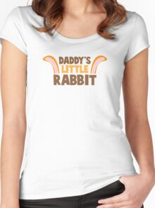 Daddy's little rabbit bunny ears Women's Fitted Scoop T-Shirt