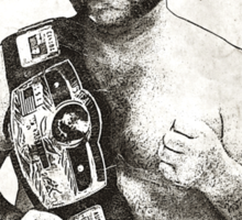 Harley Race NWA Champ Sticker