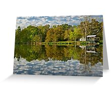 Morning on a Louisiana  pond Greeting Card