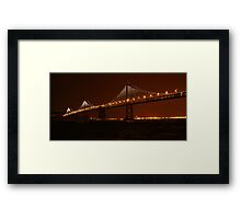 The Bay Lights ~ Grand Lighting Framed Print