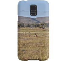 Kangaroos on the plains Samsung Galaxy Case/Skin