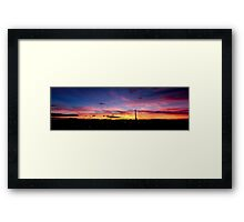 Mount Isa Autumn Sunset Framed Print