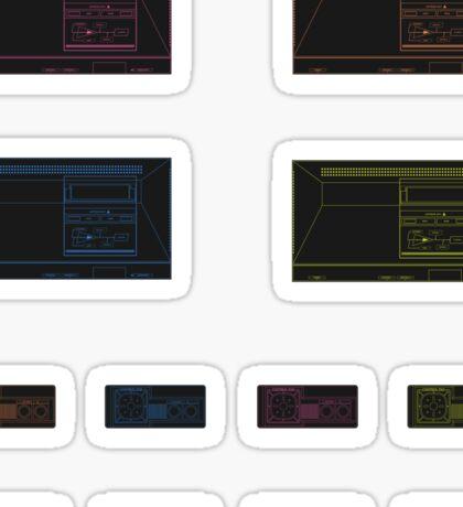 Master System Outline (Black) Sticker