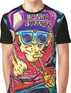 Monkey Buzinezz Art Graphic T-Shirt