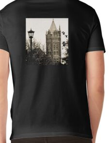 Gothic Cathedral Tower Mens V-Neck T-Shirt