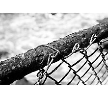 Rusted Beach Fence Photographic Print