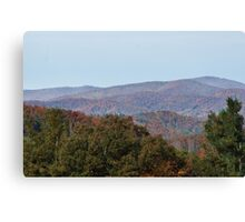 Autumn in the Blue Ridge Moutains Canvas Print