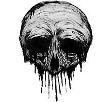Ink Skull Photographic Print